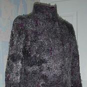 Одежда ручной работы. Ярмарка Мастеров - ручная работа Пальто из шерсти Серо-лиловое. Handmade.