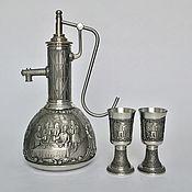 Винтаж handmade. Livemaster - original item Tin schnapps set Lindenwirtin collection. Handmade.