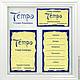 Фирменный стиль `Темпо` Студия лэмпворка. Визитка и двухсторонняя бирка.