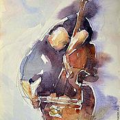 Картины и панно handmade. Livemaster - original item The musician painting, Music, Violoncel, violoncellist Painting. Handmade.