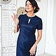 Платья ручной работы. Маленькое... синее платье. Анна Ломакина (LANNI). Интернет-магазин Ярмарка Мастеров. Платье, однотонный, шерсть