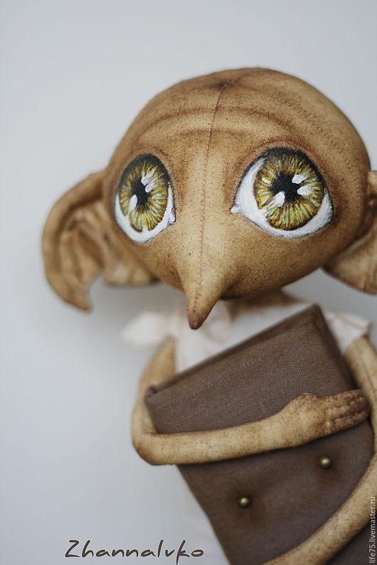 Коллекционные куклы ручной работы. Ярмарка Мастеров - ручная работа. Купить Добби. Handmade. Коричневый, домовенок, подарок девушке