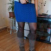 Одежда ручной работы. Ярмарка Мастеров - ручная работа Вязаная юбка спицами. Handmade.