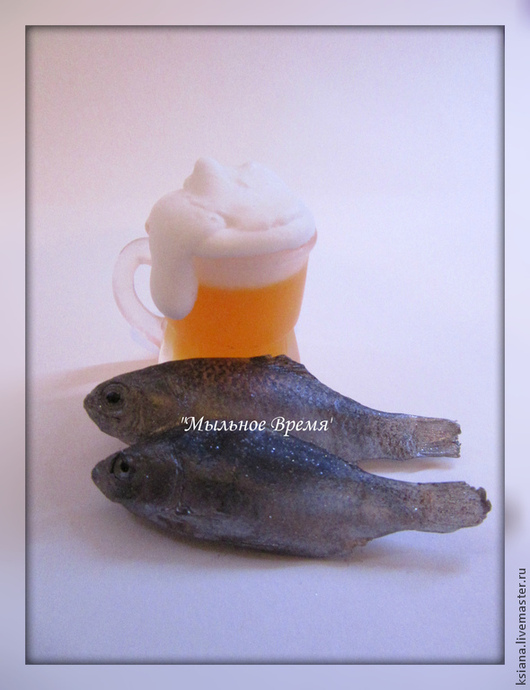 """Мыло ручной работы. Ярмарка Мастеров - ручная работа. Купить Набор мыла """"Пивной"""". Handmade. Пиво, вобла, сувенирное мыло"""