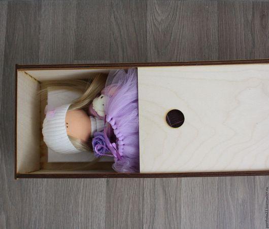 Куклы и игрушки ручной работы. Ярмарка Мастеров - ручная работа. Купить Деревянная коробка  для куклы (заготовка). Handmade. Белый
