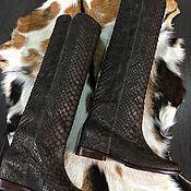 Обувь ручной работы. Ярмарка Мастеров - ручная работа Сапоги из питона. Handmade.
