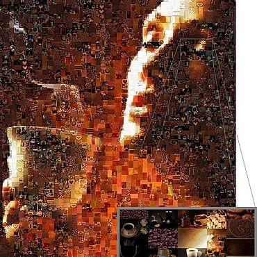 """Дизайн и реклама ручной работы. Ярмарка Мастеров - ручная работа Ф/мозаики """"НАПИТКИ"""". Handmade."""