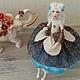 Коллекционные куклы ручной работы. Ярмарка Мастеров - ручная работа. Купить Авторская и именная кукла Иришка. Handmade. Тёмно-бирюзовый