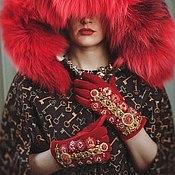 """Аксессуары ручной работы. Ярмарка Мастеров - ручная работа Перчатки""""Красная Империя""""в стиле DG. Handmade."""