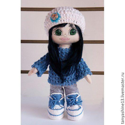 Коллекционные куклы ручной работы. Ярмарка Мастеров - ручная работа. Купить Куколка Анжелика. Handmade. Голубой, кукла интерьерная