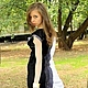 """Платья ручной работы. Валяное платье """"Бело-черное"""". Лена Балашина. Ярмарка Мастеров. Платье вечернее, черно-белое платье"""