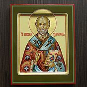 Картины и панно handmade. Livemaster - original item The icon of St. Nicholas (handwritten). Handmade.