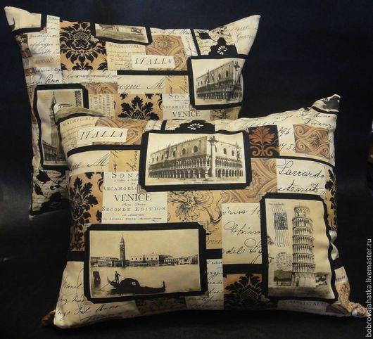 Текстиль, ковры ручной работы. Ярмарка Мастеров - ручная работа. Купить Венеция Диванная подушка в авто Миланский собор Италия Подарок мужчине. Handmade.