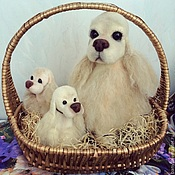 Куклы и игрушки ручной работы. Ярмарка Мастеров - ручная работа Семейка спаниелек. Handmade.