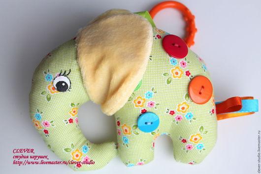 """Развивающие игрушки ручной работы. Ярмарка Мастеров - ручная работа. Купить Сенсорная игрушка """"Слоник"""". Handmade. Комбинированный, развивающая игрушка"""