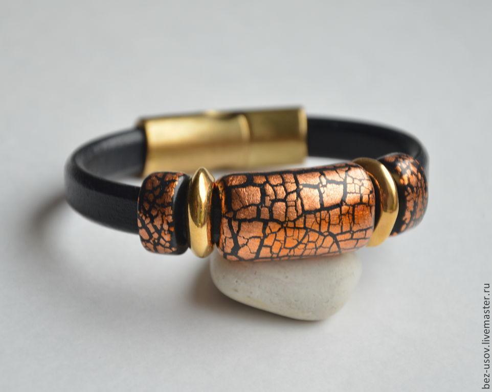Women's leather bracelet Regaliz 'Sunset', Regaliz bracelet, Moscow,  Фото №1