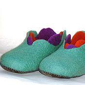 """Обувь ручной работы. Ярмарка Мастеров - ручная работа Тапочки """"Крокус"""". Handmade."""