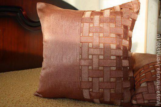 """Текстиль, ковры ручной работы. Ярмарка Мастеров - ручная работа. Купить Декоративные подушки """" Плетенка"""". Handmade. Комбинированный"""