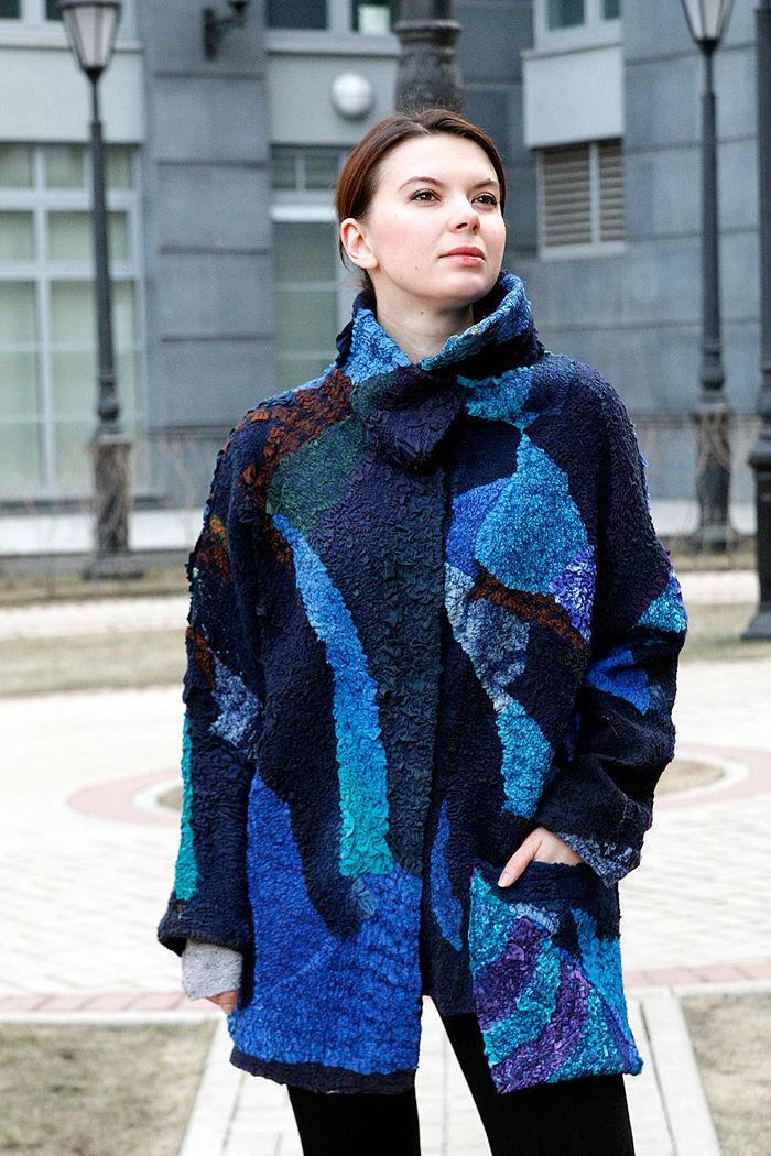 Женские пальто из валяной шерсти