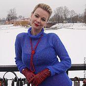 Одежда ручной работы. Ярмарка Мастеров - ручная работа Весенний Ультрамарин (свитер-паутинка). Handmade.