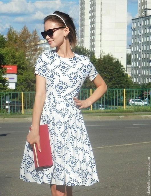 """Платья ручной работы. Ярмарка Мастеров - ручная работа. Купить Платье """"Nina"""". Handmade. Белый, ретро платье, пышная юбка"""