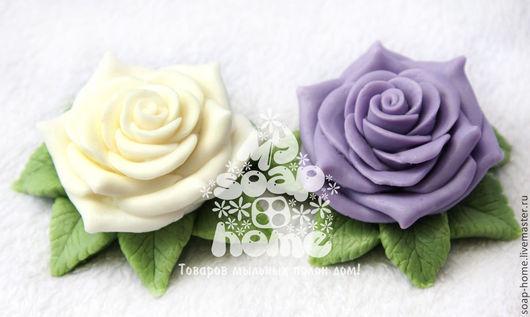 """Мыло ручной работы. Ярмарка Мастеров - ручная работа. Купить Сувенирное мыло """"Роза в листиках"""". Handmade. Мыло-цветок"""