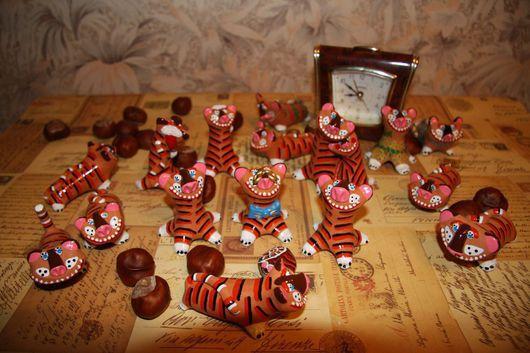 Миниатюра ручной работы. Ярмарка Мастеров - ручная работа. Купить Тигры. Handmade. Тигр, краски