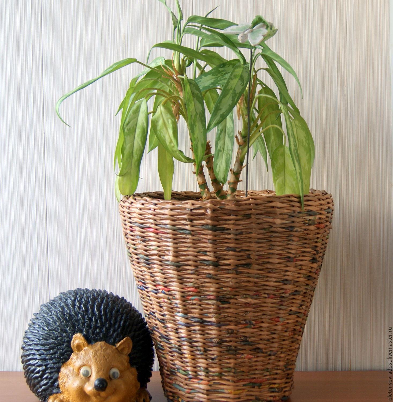 Плетенные кашпо для цветов