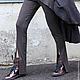 R00036 Брючки спортивные штаны трикотажные спортивный стиль комфорт шоколадный цвет спорт шик брюки клеш леггинсы брюки на резинке дизайнерские брюки стильная одежда стиль Casual леггинсы