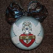 """Подарки к праздникам ручной работы. Ярмарка Мастеров - ручная работа """"Предложение руки и сердца"""" елочный шар. Handmade."""