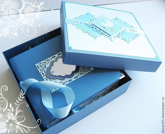 """Фотоальбомы ручной работы. Ярмарка Мастеров - ручная работа. Купить Фотоальбом для малыша """"Игрушки"""" (в коробочке для хранения). Handmade. Голубой"""