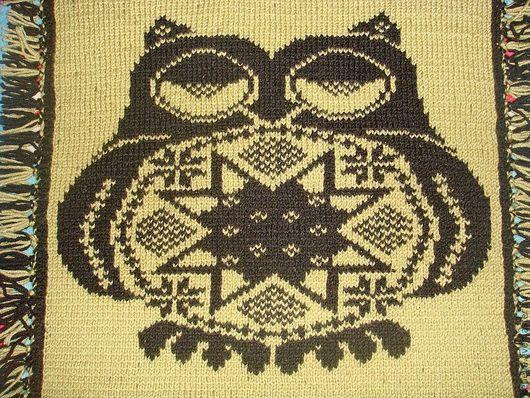 Текстиль, ковры ручной работы. Ярмарка Мастеров - ручная работа. Купить Копия работы Сиденье на кресло  Мистер Сова. Handmade.
