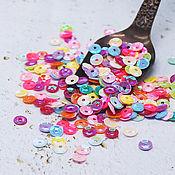 Материалы для творчества handmade. Livemaster - original item Sequins 4 mm curly No. №81 Cups mix 2 g. Handmade.