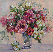 Картины и панно handmade. Livemaster - original item Oil painting wild flowers bouquet of flowers in a vase, order a picture. Handmade.