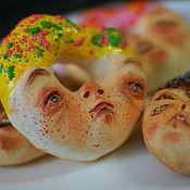 Подарки к праздникам ручной работы. Ярмарка Мастеров - ручная работа Пончики. Handmade.