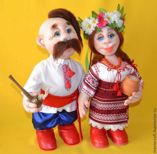 Коллекционные куклы ручной работы. Ярмарка Мастеров - ручная работа. Купить Куклы в украинском стиле. Куклы в технике скульптурный текстиль.. Handmade.