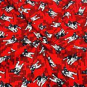 """Ткани ручной работы. Ярмарка Мастеров - ручная работа Ткани: Кулирка """" Мопсы в очках"""". Handmade."""