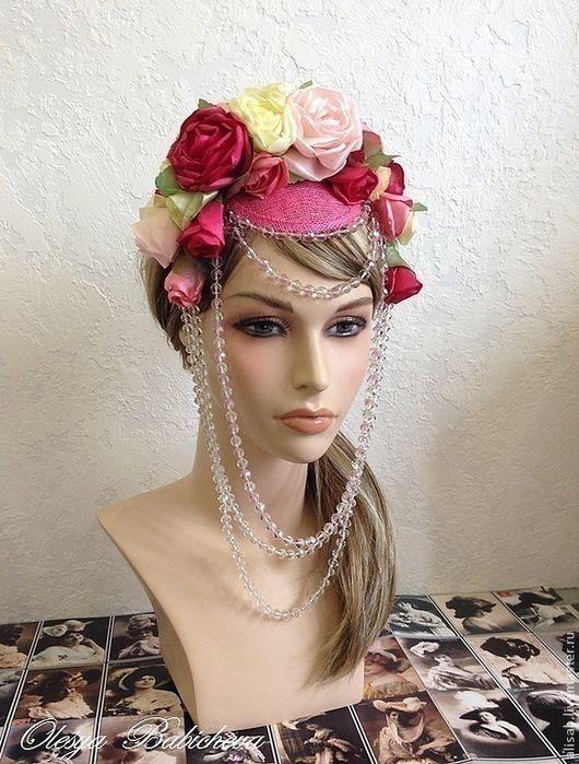 """Шляпы ручной работы. Ярмарка Мастеров - ручная работа. Купить Арт-шляпка """"The Queen rose"""". Handmade. Шляпка"""