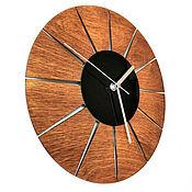 Для дома и интерьера handmade. Livemaster - original item Round wall clock made of wood and acrylic in eco style. Handmade.