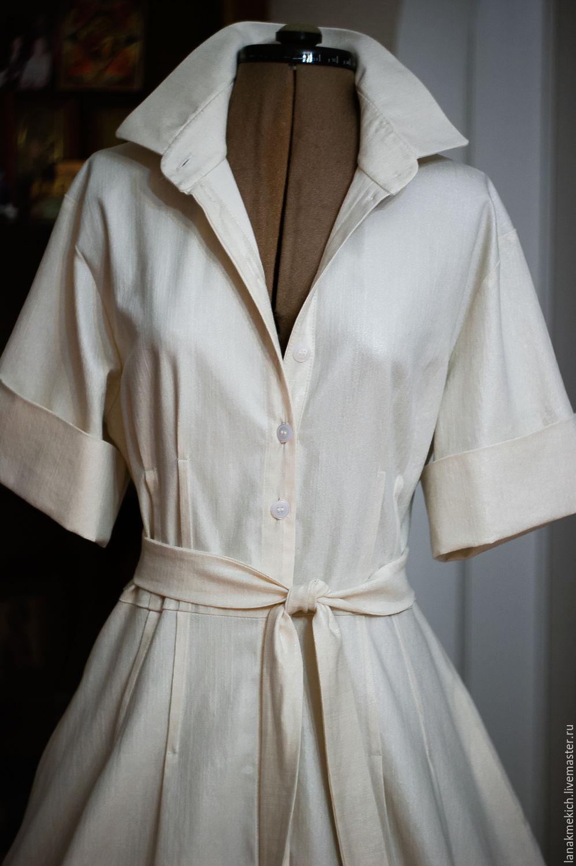 Shirt Dress Cotton Full Skirt A White Dress Look 2 Shop