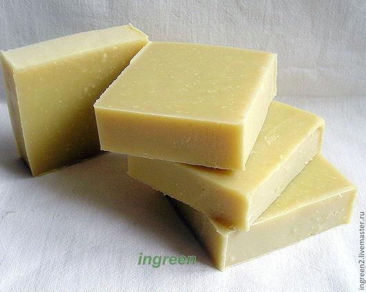 Мыло ручной работы. Ярмарка Мастеров - ручная работа. Купить Мыло оливковое (натуральное мыло  с нуля). Handmade. Бежевый