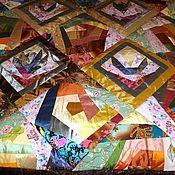 """Для дома и интерьера ручной работы. Ярмарка Мастеров - ручная работа Одеяло """"Кувшинки и розы"""". Handmade."""