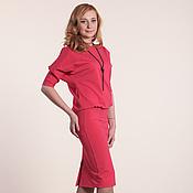 Одежда ручной работы. Ярмарка Мастеров - ручная работа 026:  платье летучая мышь, платье большого размера, платье на работу. Handmade.