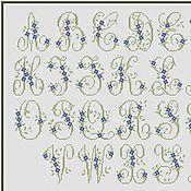 Материалы для творчества ручной работы. Ярмарка Мастеров - ручная работа Схема для вышивки крестом «Алфавит с цветочками. Монограммы». Handmade.