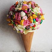 """Свадебные букеты ручной работы. Ярмарка Мастеров - ручная работа Свадебный букет """"Мороженое"""" &комплект аксессуаров. Handmade."""