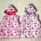 Работы для детей, ручной работы. Ярмарка Мастеров - ручная работа Парные детские утепленные жилеты. Handmade.