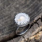 """кольцо """"Халцедоновая роза"""", серебро, халцедон"""