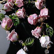 """Украшения ручной работы. Ярмарка Мастеров - ручная работа Комплект """" Весна в Версале """", Лэмпворк, горный хрусталь, позолота. Handmade."""