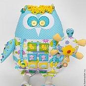 Куклы и игрушки ручной работы. Ярмарка Мастеров - ручная работа Развивающая игрушка Сова с погремушкой. Handmade.