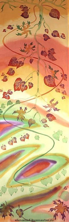 Шарфы и шарфики ручной работы. Ярмарка Мастеров - ручная работа. Купить Шарф Осенний. Handmade. Шарф, шелковый шарф